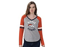Women's Denver Broncos Asterisk Long-Sleeve T-Shirt