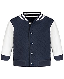 Baby Boys Quilted Varsity Jacket, Created for Macy's