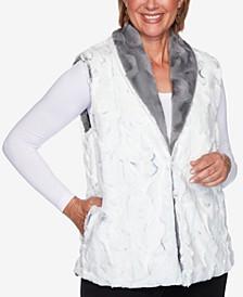 Petite Knightsbridge Station Reversible Faux-Fur Vest