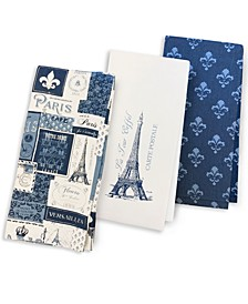 Paris Kitchen Towels, Set of 3