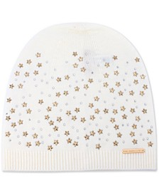 Star-Embellished Beanie Hat