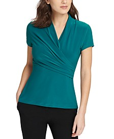 Ruched Surplice Top