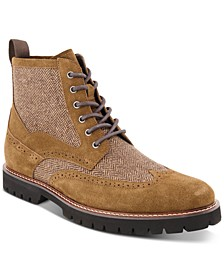 Men's Charles Wingtip Boots, Created for Macy's