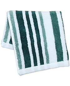 "Elite Cotton Tri-Stripe 13"" x 13"" Wash Towel, Created for Macy's"