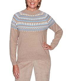 Petite Dover Cliffs Diamond Fair Isle Sweater
