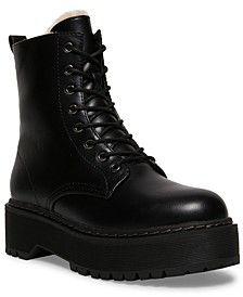 Women's Betty-F Faux-Fur Combat Boots