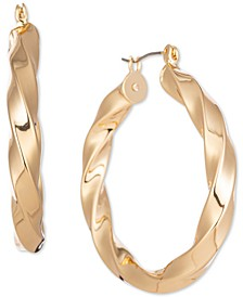 "Gold-Tone Spiral Medium Hoop Earrings, 1.55"", Created for Macy's"