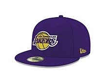 Los Angeles Lakers NBA Finals Champ Side Patch 59FIFTY Cap
