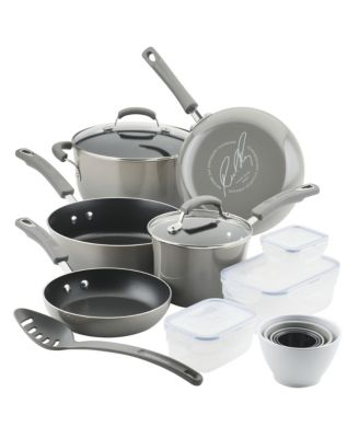 Rachael Ray Blue Nonstick Cookware Set with Containers, 19-Piece