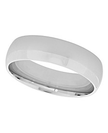 Unisex Plain Polished 925 Sterling Silver Wedding Band