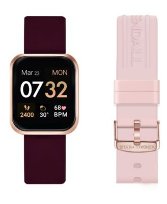 Womens Kendall + Kylie Merlot and Blush Straps Smart Watch Set 36mm