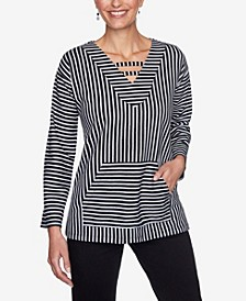 Plus Sizes Women's Striped Pullover