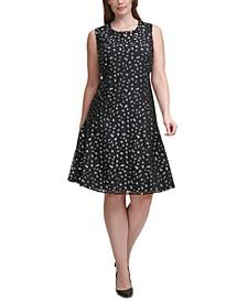 Plus Size Leopard Lace Dress