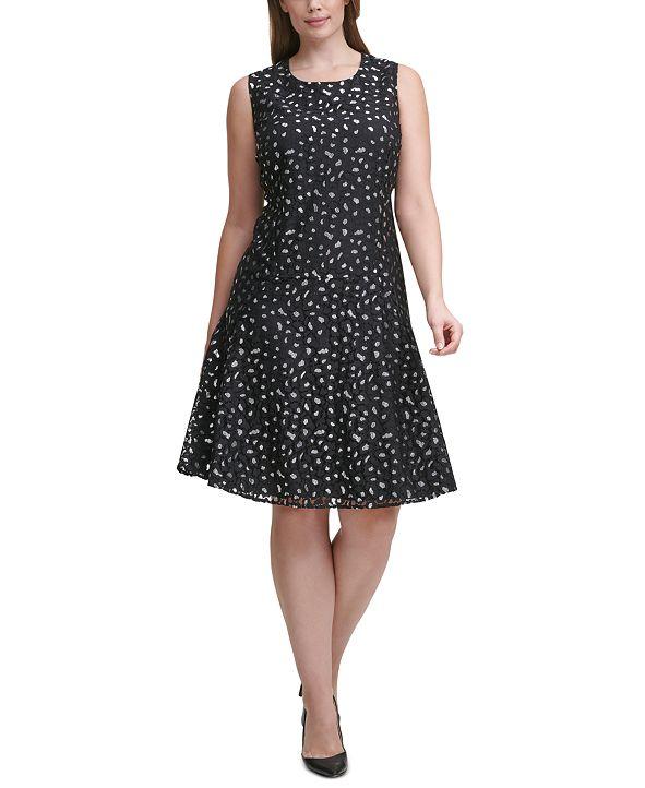 Tommy Hilfiger Plus Size Leopard Lace Dress
