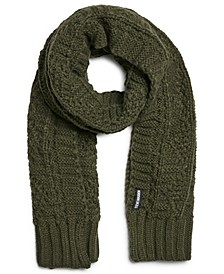 Men's Cable-Knit Scarf