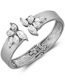 Hematite-Tone Crystal Cuff Bracelet