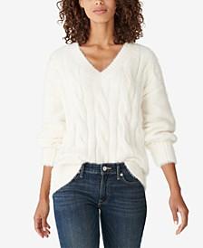Cable-Knit Eyelash Sweater