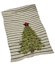 "Christmas Tree Embroidery Stripe, 16"" X 72"""