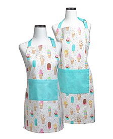 Ice Cream Parlor Parent and Child Apron Boxed Set