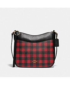 Gingham Print Chaise Crossbody