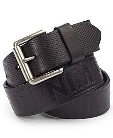 Men's Leather Wide-Strap Belt