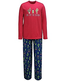 Matching Cactus The Season Family Pajama Set Collection, Created for Macy's