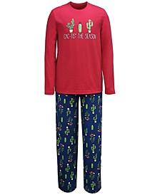 Matching Men's Cactus The Season Family Pajama Set, Created for Macy's