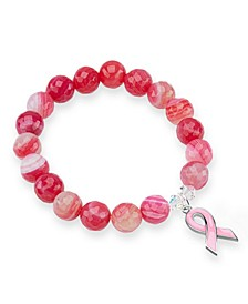 Pink Agate Awareness Bracelet