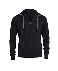 Men's Zip Hoodie with Waffle Stitch