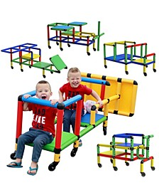 Buildable Play Structure Set with Wheels
