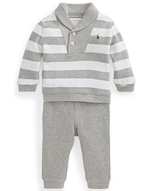 Ralph Lauren Baby Boys Fleece Top and Jogger Set