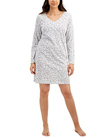 Long-Sleeve Cotton Nightgown, Created for Macy's