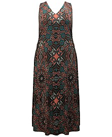 INC Plus Size Printed Maxi Dress, Created for Macy's
