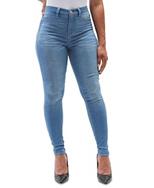 Juniors' High Rise Skinny Jeans