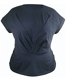 INC Plus Size Pleated Front Top, Created for Macy's