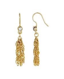 Women's 14K Gold Dipped Tassel Earring