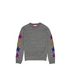 Big Girls Flip Sequin Graphic Sleeve Sweater