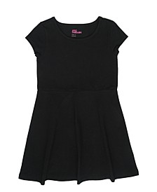 Toddler Girls Short Sleeve Solid Basic Dress