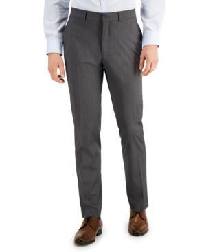 Men's Techni-Cole Light-Gray Suit Separate Slim-Fit Pants