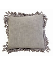 "Simone Fringe Trim Pillow, 20"" x 20"""