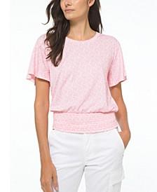 Paisley-Print Bell-Sleeve Top