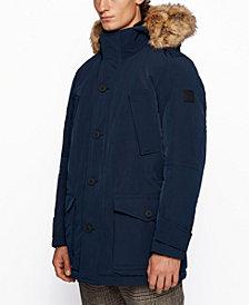 BOSS Men's Opole Relaxed-Fit Faux-Fur Jacket