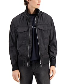 Men's Zip-Front Bomber Jacket