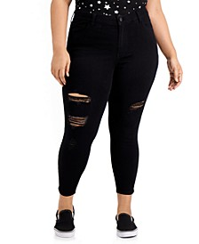 Trendy Plus Size Destructed Curvy Skinny Ankle Jeans