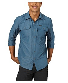 Men's Mix Material Shirt