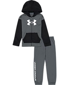 Little Boys Brand Stack with Hoodie and Pant Set