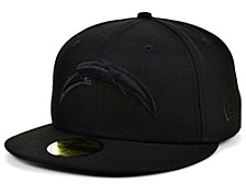 Los Angeles Chargers Black on Black 59FIFTY Cap