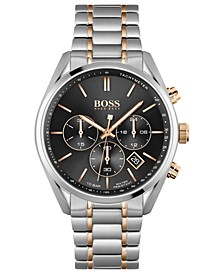 HUGO Men's Chronograph Champion Stainless Steel Bracelet Watch 44mm