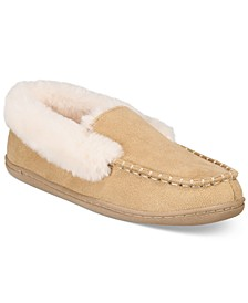 Women's Faux-Fur Moccasin Slippers, Created for Macy's