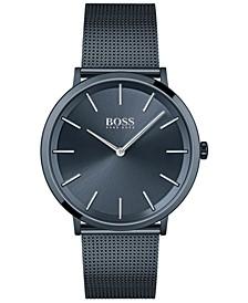 HUGO Men's Skyliner Dark Blue Stainless Steel Mesh Bracelet Watch 40mm